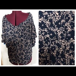 NEW Forever 21 Plus Size Open Shoulder Flowy Top